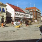 Gatuarbeten i Halmstad