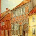 Målning av Kyrkogatan, Kvarteret Broktorp