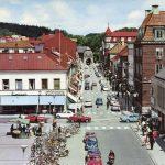 Storgatan i Halmstad med Norre Port